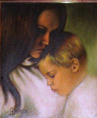 Amore di madre olio 25x30 1985.jpg