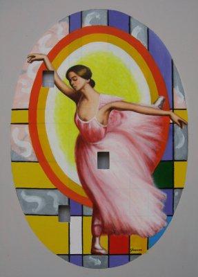 Ballerina cosmica 3 acrilico su tela con buchi cm.50x70 2012.jpg