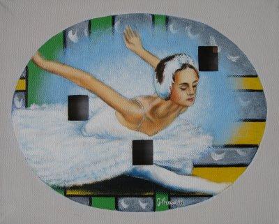 Ballerina cosmica 7 acrilico buchi 30x24 2011.jpg