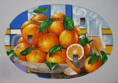 Diaspora di arance 4 acrilico buchi 70x50 2012.jpg