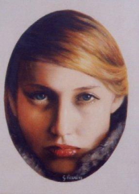 Donna con pelliccia 18x24 2003.jpg