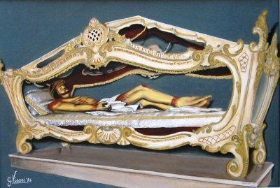 Foto 18 Cristo nellurna cartone telato cm.35x50 1986.JPG
