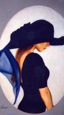 Il cappello blu 50x70 1988.JPG