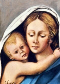 Madonna e Bambino coperti 25x35 1985.JPG