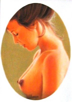 Nudo di profilo olio 30x40 1988.jpg