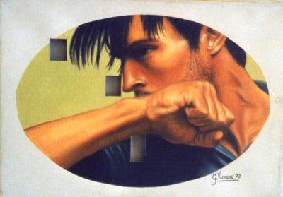 Omaggio a Michelangelo 35x25 buchi 1997.jpg