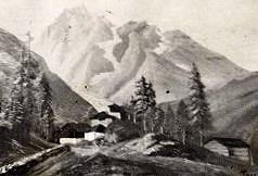 Paesaggio alpino Cartone 1958.JPG