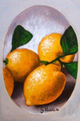 Piccoli limoni acrilico tela cm.10x15 2014-1.JPG