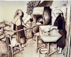 Preparazione del pane 50x40 c.t. 1985.JPG