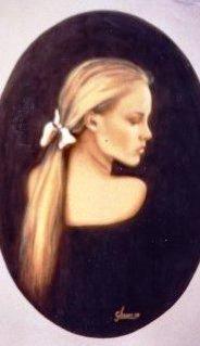 Profilo di donna bionda 50x70 1988.JPG